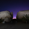 Twilight at Belle Campground with Light Painting.