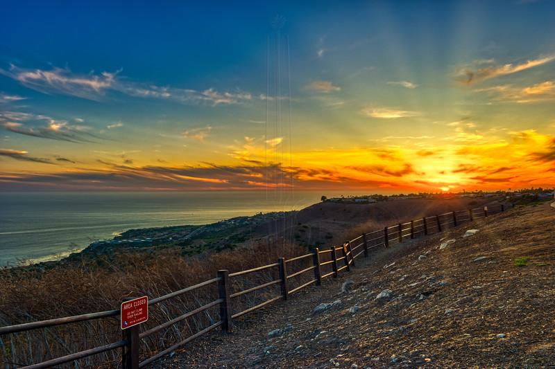 Late summer sunset in Palos Verdes.