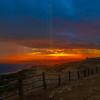 Setting sun over Santa Barbara Island.
