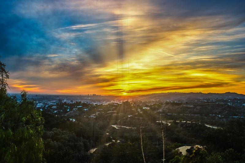 Sunset towards West LA.