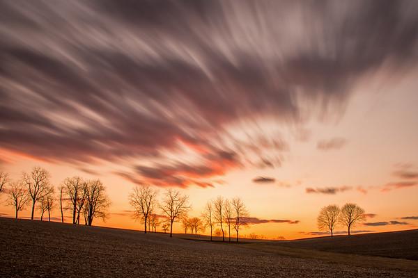 Sunset near Ottawa, Pennsylvania