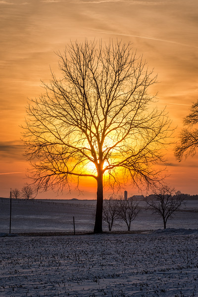A beautiful California sunset. Taken near the village of California located in rural Montour County, Pennsylvania...