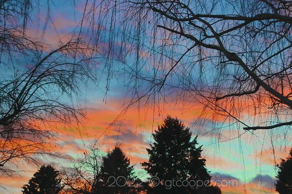 """Denver Sunset"" January 25, 2012 Englewood, Colorado"