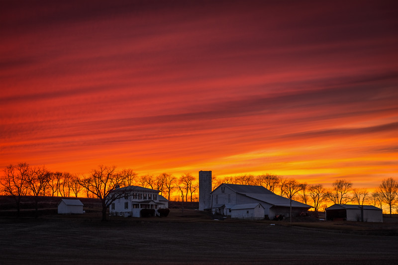 Country Farm Sunset
