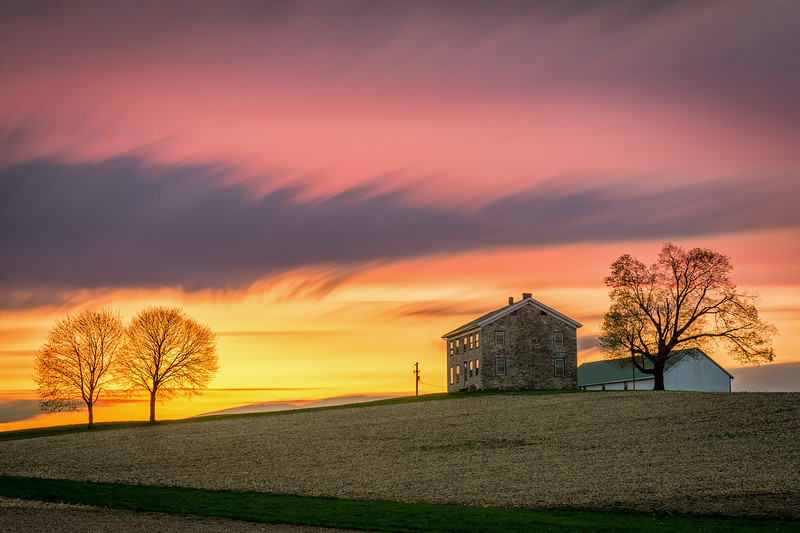Spring Sunset in the Country