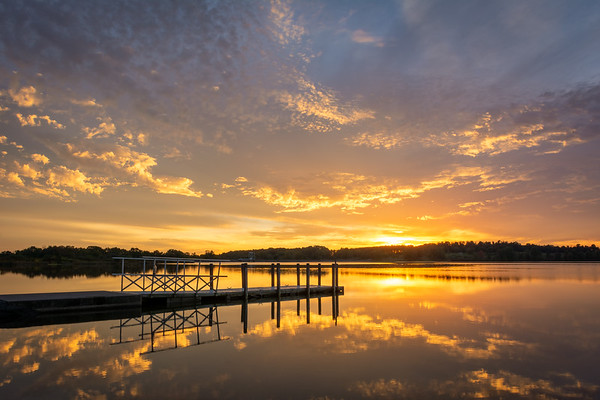 Sunset at Lake Chillisquaque, Montour County, Pennsyvlania