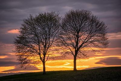 Sunset in Montour County, Pennsylvania