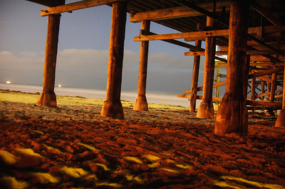 Under the Crystal Pier, Time Lapse 8:15 pm Pacific Beach, San Diego, Ca ©JLCramerPhotography 2012