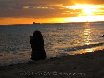 Sunset Silhouette - Hawai'i