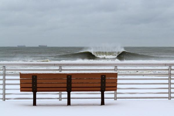 Long Beach New York Winter A Frame