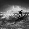 Surfing Storm Brian at a Welsh beach.