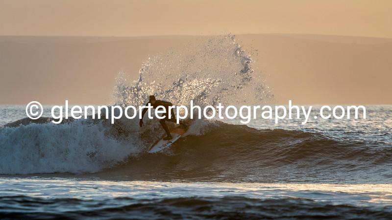 Evening surf.
