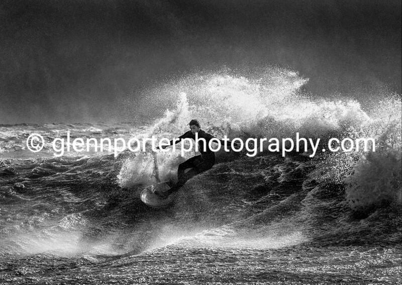 Surfing Storm Brian.