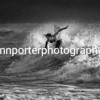 In the light - mono. Welsh Pro Surf Competition, Rest Bay Porthcawl.