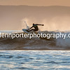 Surfing at sunset.