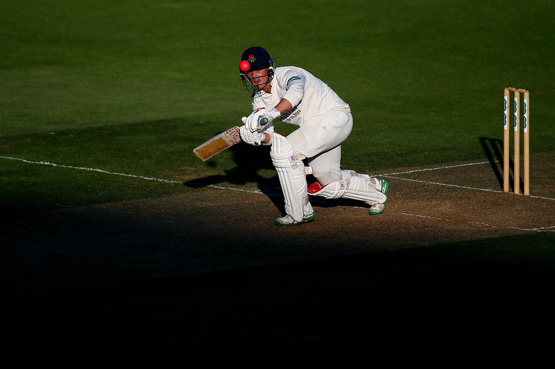 19th August - Rob Jones of Lancashire bats as the shadows creep up the wicket during the first day of the County Championship match between Surrey and Lancashire.