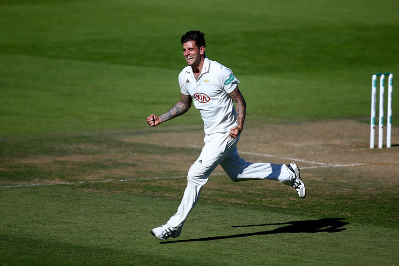 27th September - Drama even down to the final innings. Jade Dernbach celebrates dismissing Tom Westley of Essex in a bid to seal what would be a record-breaking comeback to finish the season undefeated on the third day of the County Championship match between Surrey and Essex