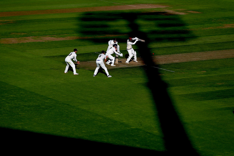 19th August - Amar Virdi of Surrey bats out of the shadows during the first day of the County Championship match against Lancashire.