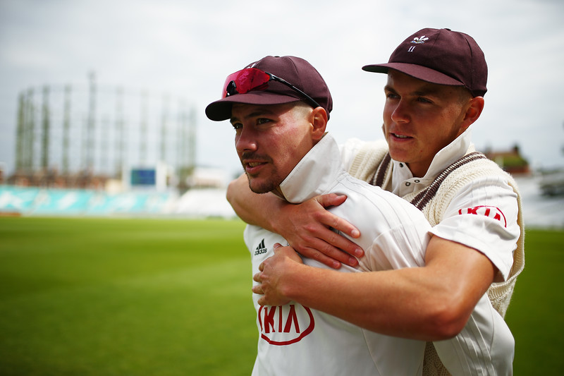 13th May - Sam Curran gives his captain a hug on the boundary during day three of the County Championship match against Yorkshire.