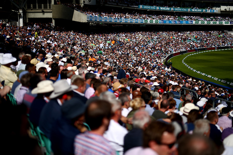 7th September - Full house. Spectators watch on during the first day of the 5th Test match between England and India.