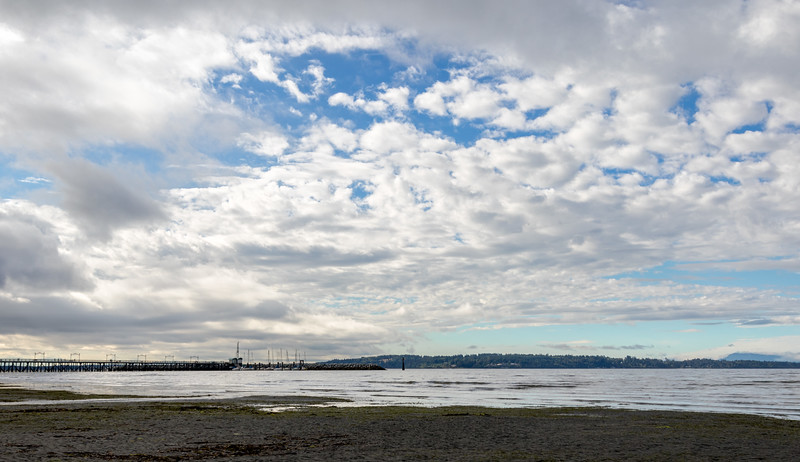 Cloud cover over the White Rock Pier.