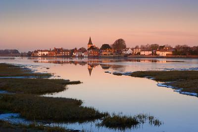 Frosty Bosham dawn, West Sussex