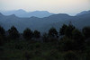 Near sunset view - looking southwest across the peaks of the Makhonjwa Mountains - from the mountain forest between Piggs Peak and Bulembu - Kingdom of Swaziland.