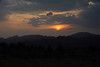 Sunset over the the peaks of the Makhonjwa Mountains - which forms the border between Mpumalanga (province) of South Africa - and here in Swaziland (specifically, along the forest road between Piggs Peak and Bulembu