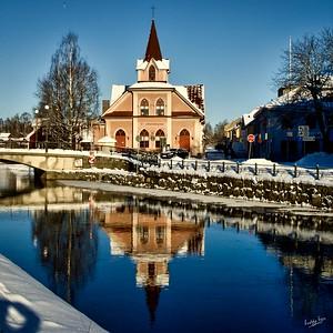 The Pink Church in Winter, Falun