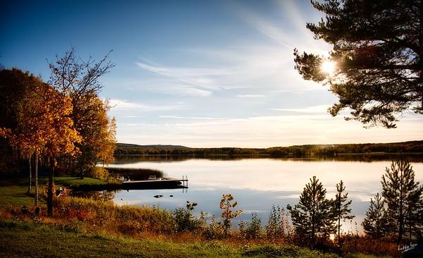 Autumn Light on Lake Runn, Dalarna