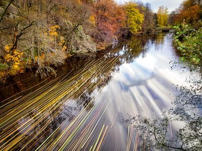 The Bäveån Flows Down to Tureborgsbron