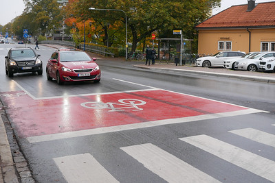 Modern street marking...
