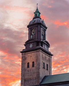 Clock Tower of the German Church, Gothenburg, Sweden.  Hoping for a new beginning, based on compassion and kindness for one another, and an end to anger, rage, and greed.