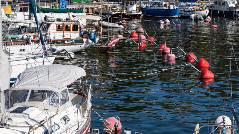 Tangle of boats, Skeppsholmen, Stockholm, Sweden