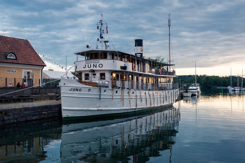 The Juno, cruising the Gota Canal, Sweden