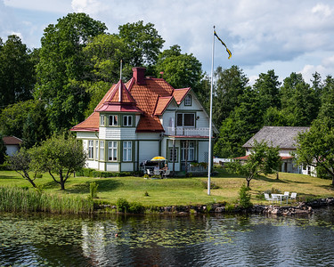 Summer homes along the canal