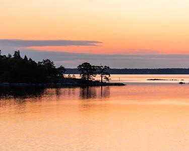 Dawn in the Baltic archipelago, Sweden