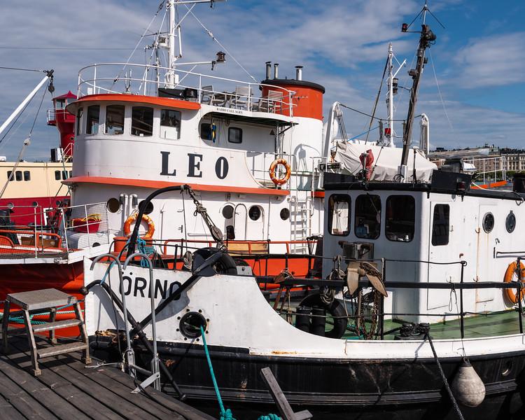 I love the character of these old working boats.  Skeppsholmen, Stockholm, Sweden