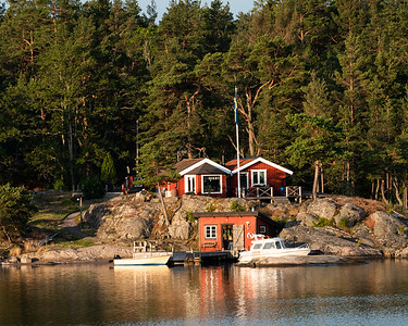 Summer cottage and boathouse