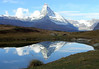 Matterhorn reflection in Lake Leisee - canton of Valais