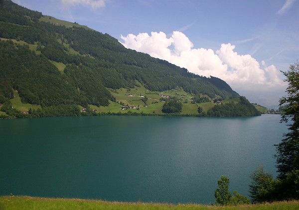 Lungerersee (Lake Lungern) - at the north end of the Sarneraa Valley - canton of Obwalden