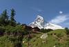 Matterhorn (northern face) from Zmutt Valley - canton of Valais