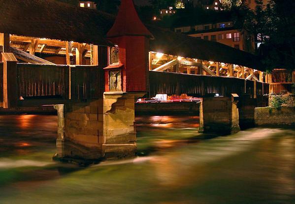 Spreuerbrücke (Mill Bridge) and Chapel - above the Reuss River - Lucerne
