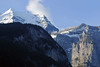 Beyond the shaded eastern Lauterbrunnen Wall - up to the southern face of the Silberhorn (Silver Horn) - canton of Bern