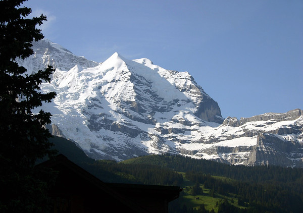 Silberhorn with the southwestern slope of the Jungfrau to the left - canton of Bern