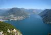 Atop Monte San Salvadore - northeast across Lake Lugano - to the Lepontine Alps (Central Alps) beyond