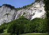 Lauterbrunnen Valley - waterfall along the south wall - canton of Bern