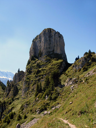 Limestone outcrop of Gumihorn - canton of Bern