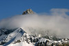 Eye level with the clouds along the Pennine Alps (mountain range of the western Alps) - canton of Valais