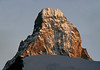 Late afternoon sunlight upon the northern face and summit of the Matterhorn